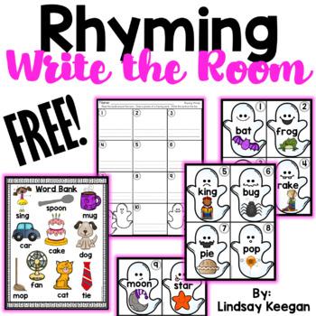 Rhyming Write the Room FREEBIE! Rhyming activities