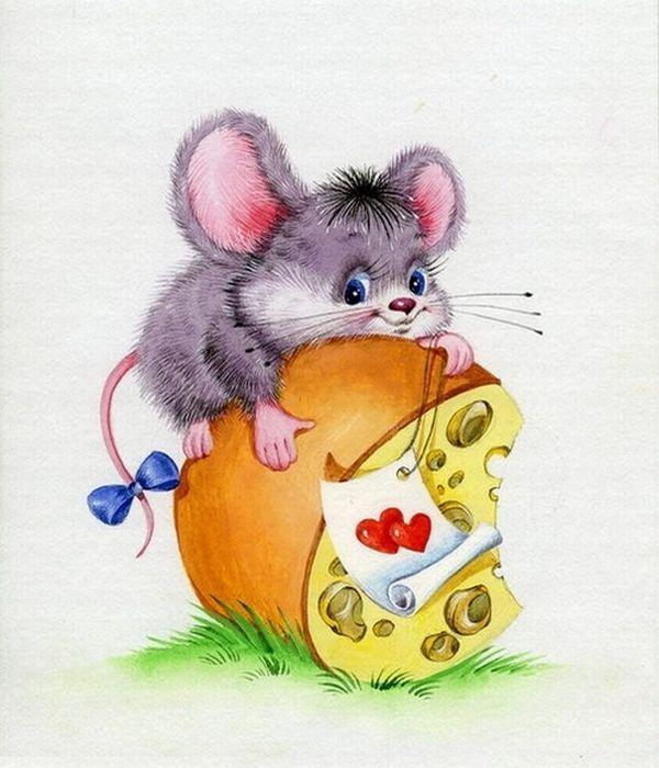 Открытка с днем рождения мышь, музыканты анимация