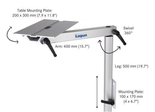 The Lagun Table Leg System Is Constructed Of Salt Water Resistant