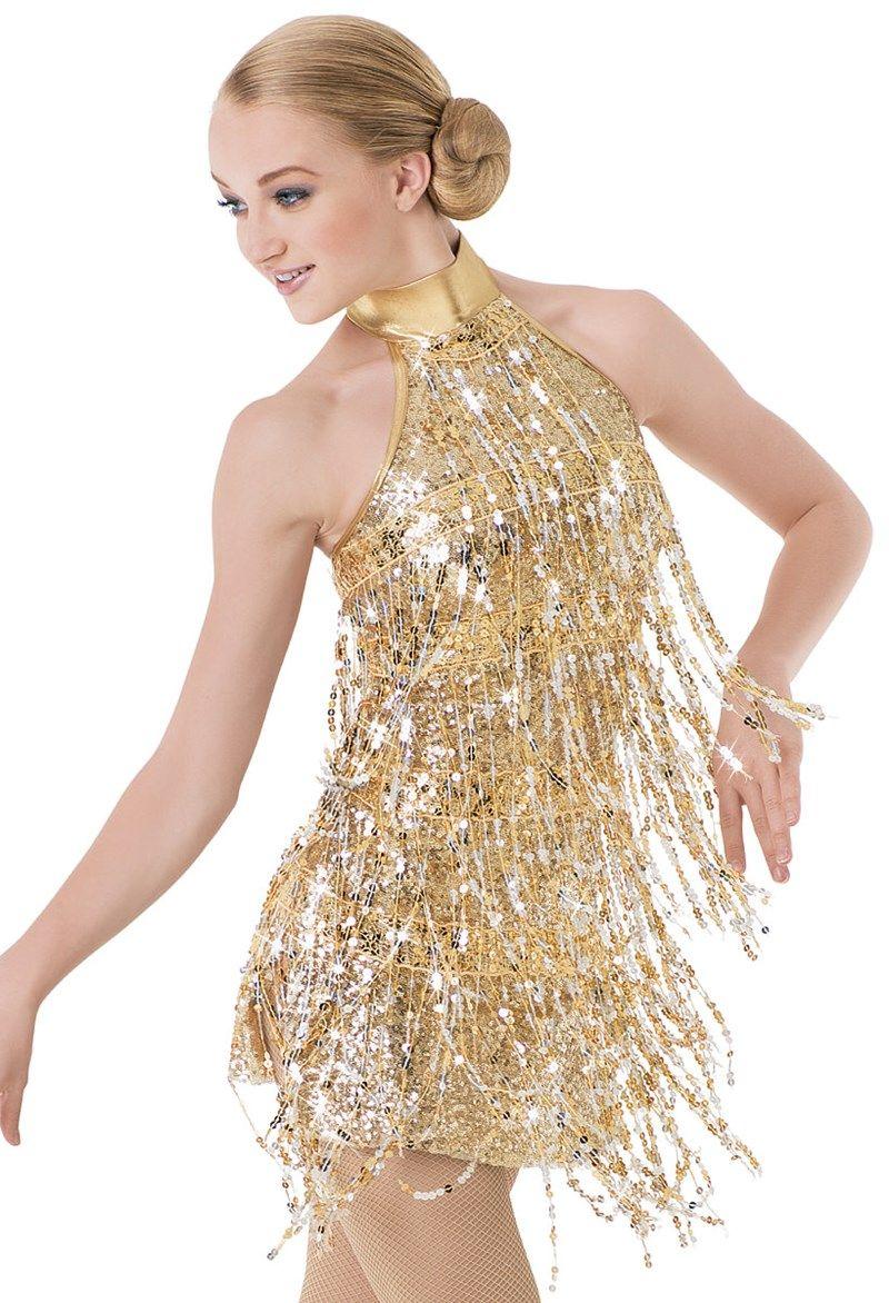 Weissman™ | Halter Sequin Fringe Flapper Dress - waiting for the lights to change - nikki williams