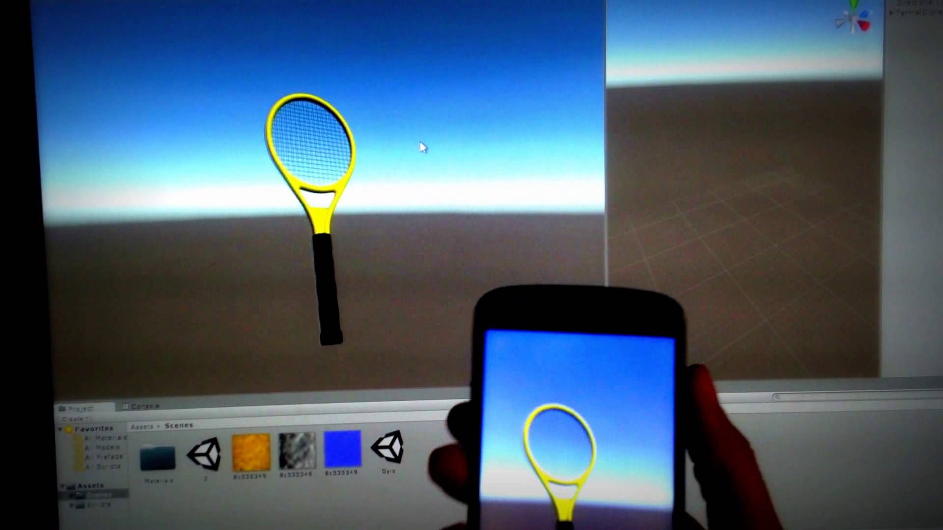 Gyro Motion, on Unity 3D android test | Interactive | Unity 3d