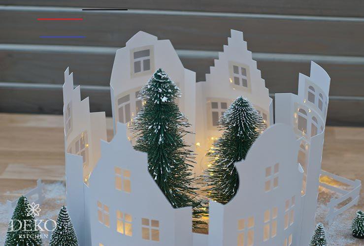 diy weihnachtliche fensterdeko mit hübscher häuserzeile aus papier weihnachtlichefensterdeko on zink outdoor kitchen id=27486