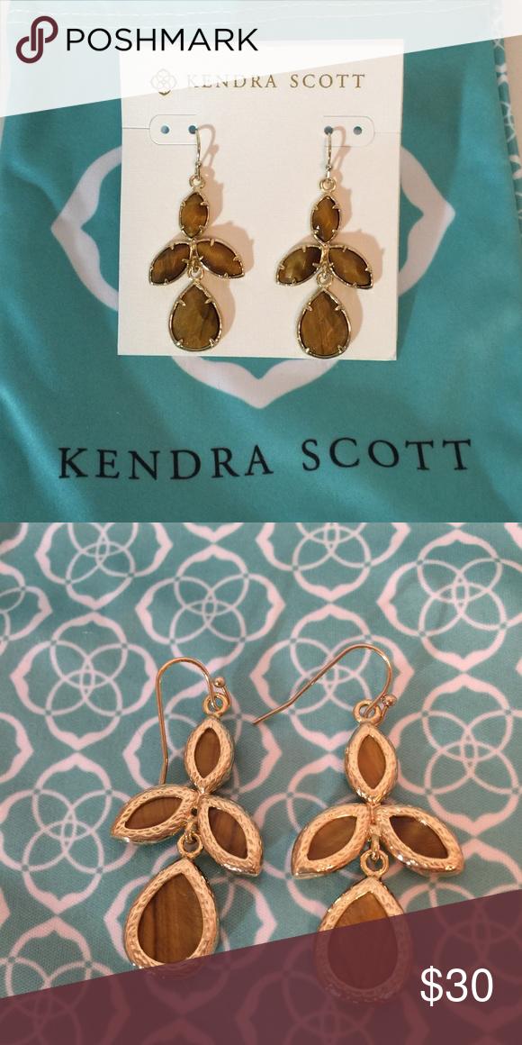 Kendra Scott Kendall Tiger Eye Earrings Kendra Scott Kendall Tiger Eye Earrings.  2 inch drop!  brand New! Kendra Scott Jewelry Earrings