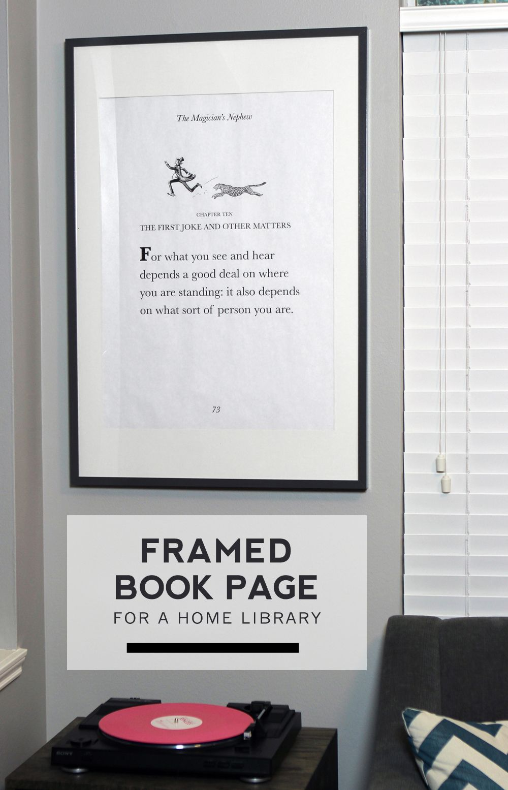 Framed Book Page | ✻ Best DIY Home Decorating Ideas ✻ | Pinterest ...