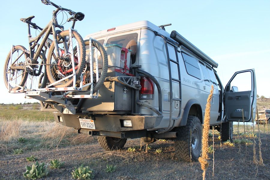 A 1upusa Bike Rack Http Www 1upusa Com Bicycleracks Html From This Forum Http Sportsmobileforum Com Spare Tire Mount Mercedes Sprinter Camper Bike Rack