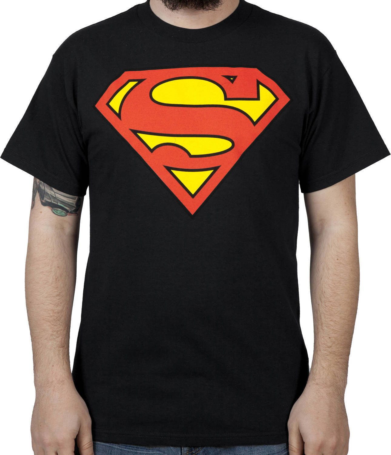 85cfb65989a Black Superman Logo Shirt