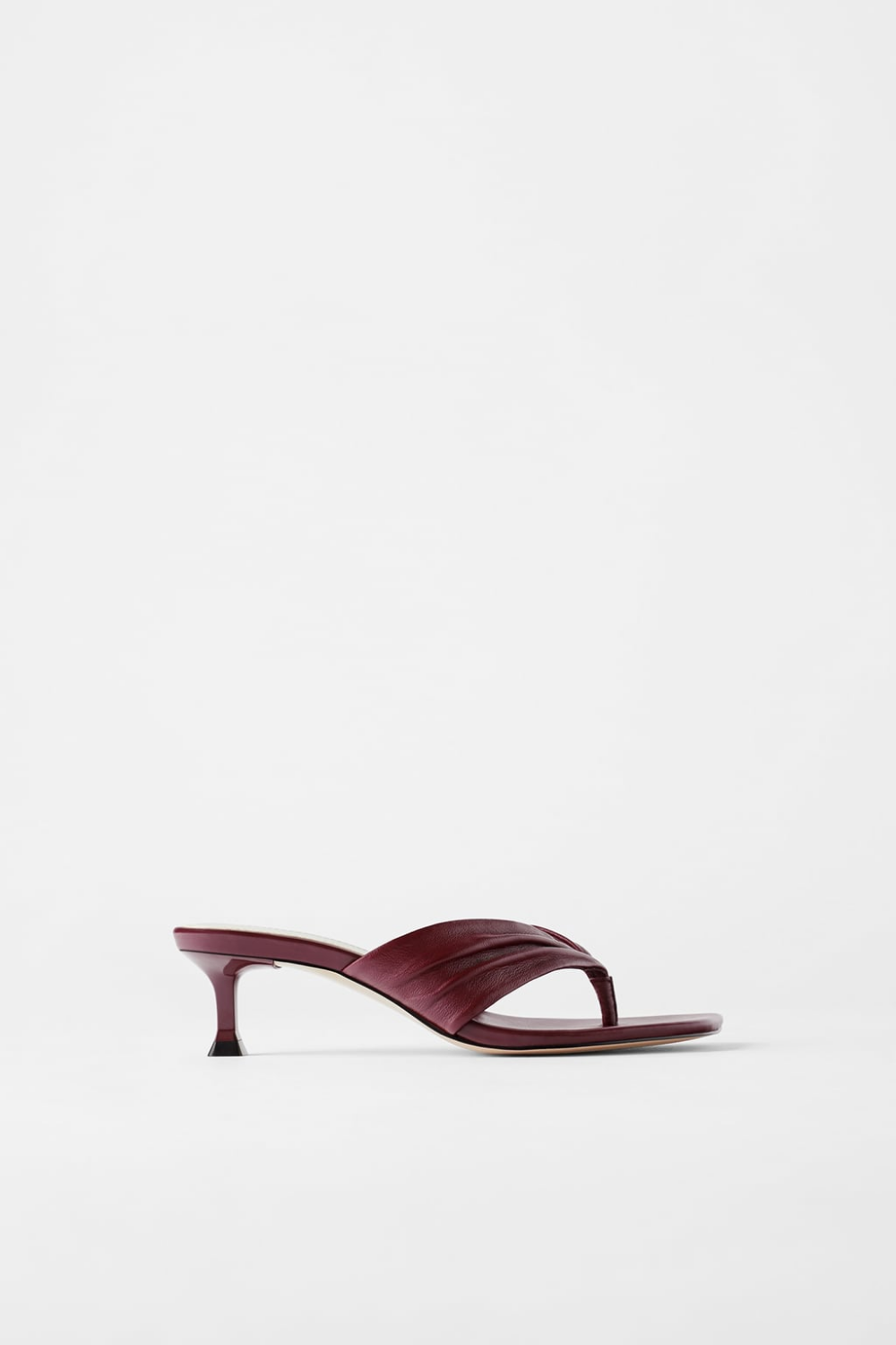 Gathered Leather High Heeled Sandals New In Woman Zara United States