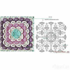 مربعات كروشية مع البترونات بطانية بيبي مفارش كروشية للأطفال بطانية كروشية سهلة Crochet Motif Tapestry Crochet Blanket