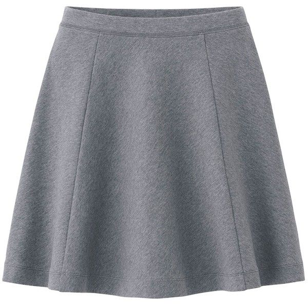 UNIQLO Women Ponte Flare Skirt (€11) ❤ liked on Polyvore featuring skirts, bottoms, ponte skater skirt, ponte knit skirt, flared skirt, circle skirt and fancy skirts