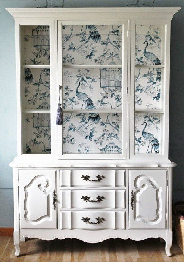 Most Beautiful Antique China Cabinet Makeover Ideas (50) #kitchen