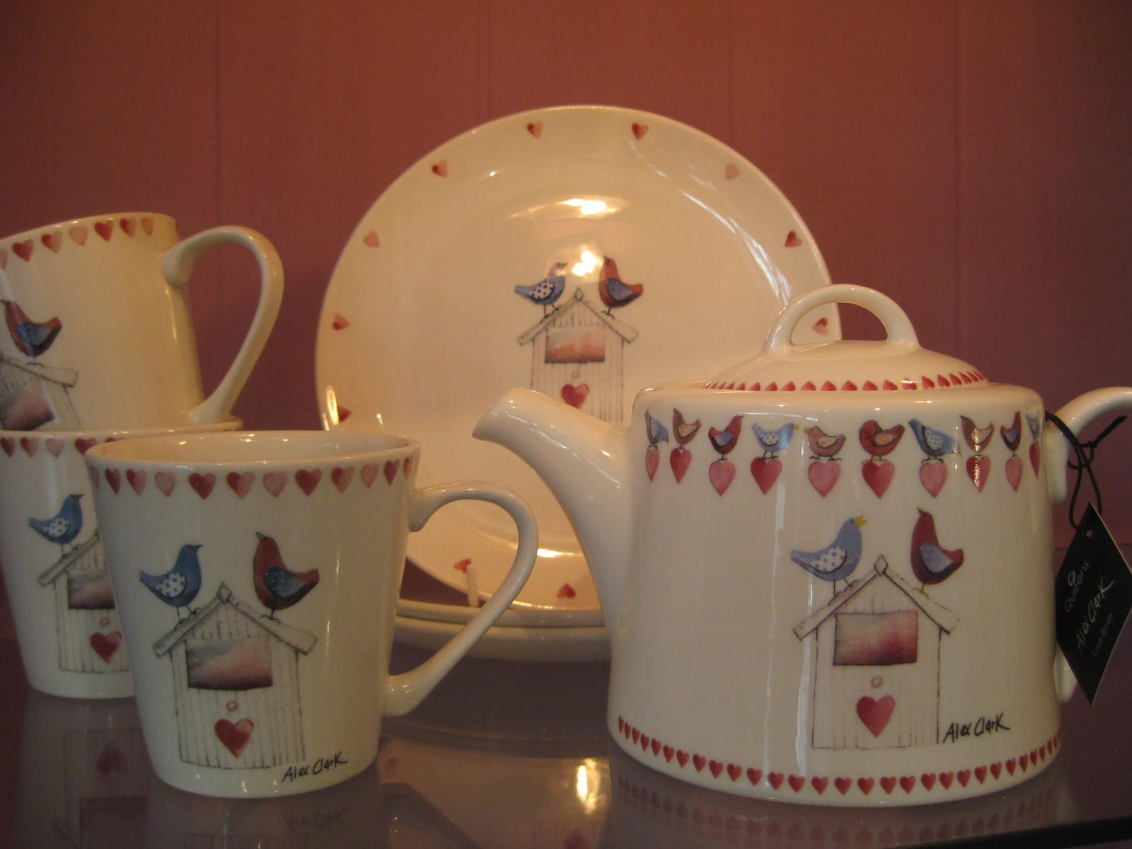 'Lovebirds' teaset Vintage house, Tea set, Beautiful gifts