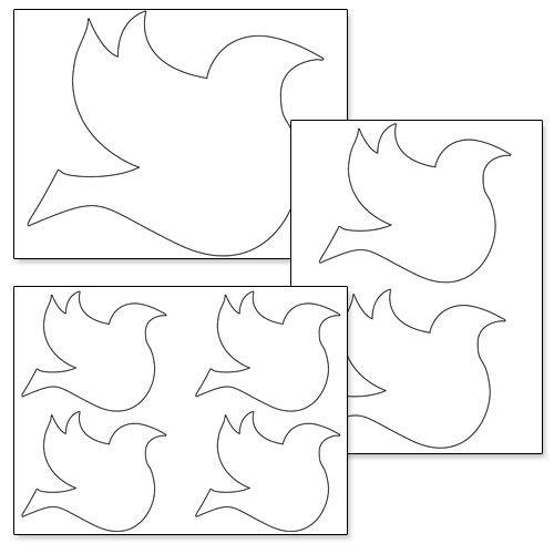 Free Printable Dove Stencil - Printable Treats | Stencils for walls ...