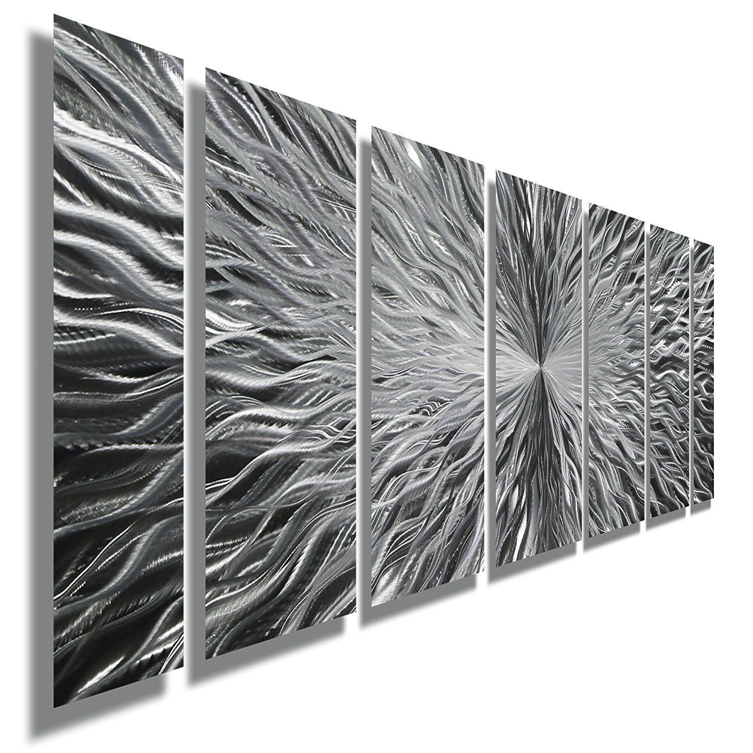 Silver Contemporary Metal Wall Art Abstract Home Decor Accent Modern Panel Vortex By Jon Allen Check This Awesome Image