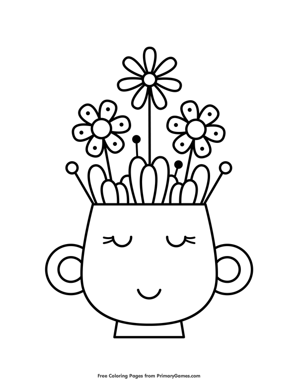 Free Printable Spring Coloring Pages EBook For Use In Your Classroom Or Home From PrimaryGames