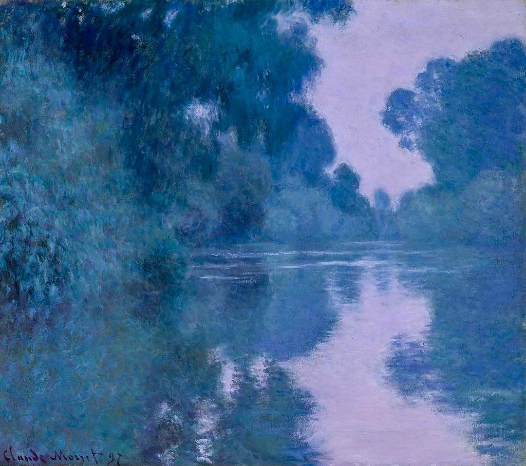 "2,554 Likes, 11 Comments - Art History Feed (@arthistoryfeed) on Instagram: ""Morning on the Seine, near Giverny. Claude Monet, 1897. #monet #impressionism #arthistory"""
