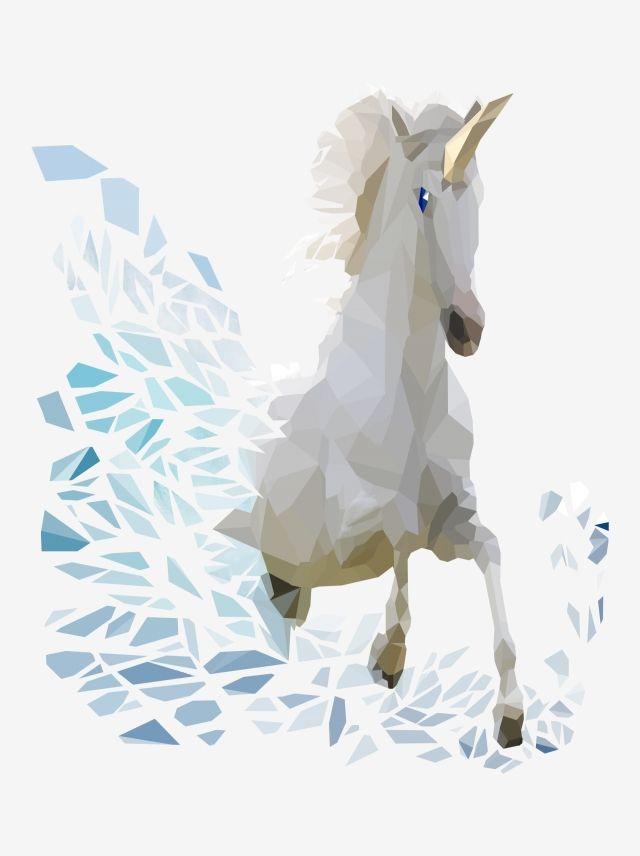 الخيال حيوان أسطوري يونيكورن هندسية بسيطة عنصر Ps المواد التجارية حلم خيال وحيد القرن Png صورة للتحميل مجانا Unicorns Png Unicorns Vector Fantasy Background