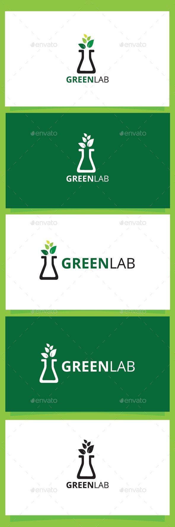 Greenlab | Simple logo, Logo templates, Logo design template