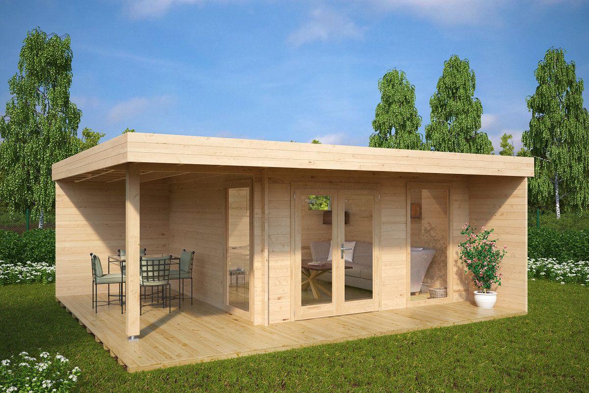 Modernes Gartenhaus mit Terrasse Hansa Lounge XL 15m²