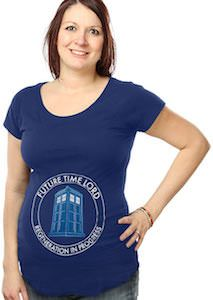 5887c4b6 Doctor Who Future Time Lord Maternity T-Shirt | Baby Mine ...
