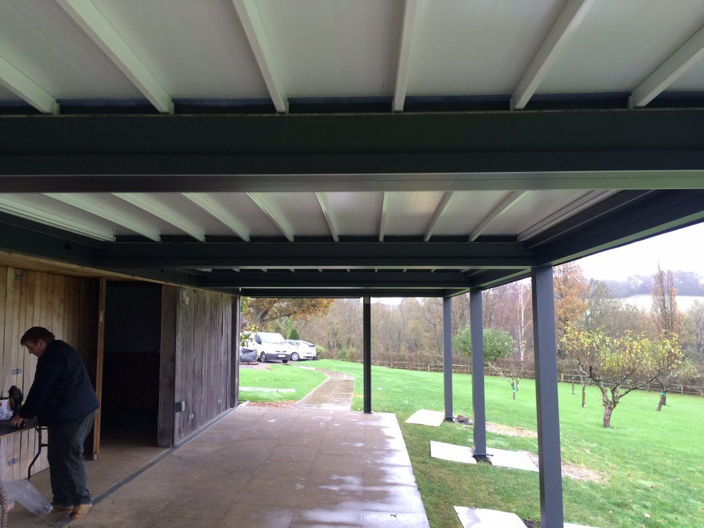 These Are Pictures Showing The Pratic All Weather Awning System Here We Have Installed Four