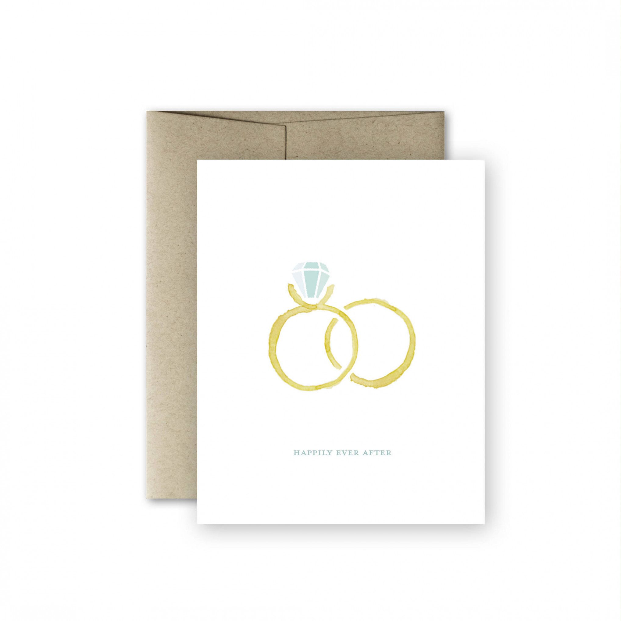Blank Engagement Card Wedding Card Engagement Card Happily