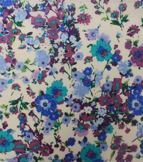Warm Weather Apparel Fabric Lawn Floral Spray Purple