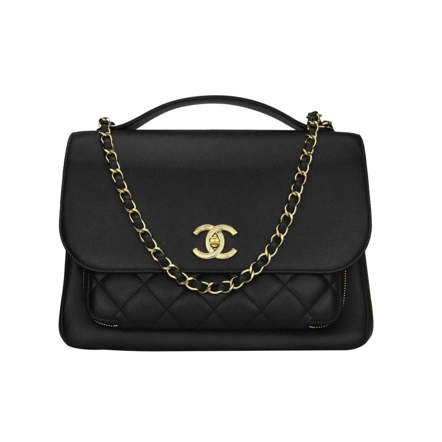 1dd2009d7835 CHANEL Business Affinity Large Black Caviar with Champagne Hardware 2017