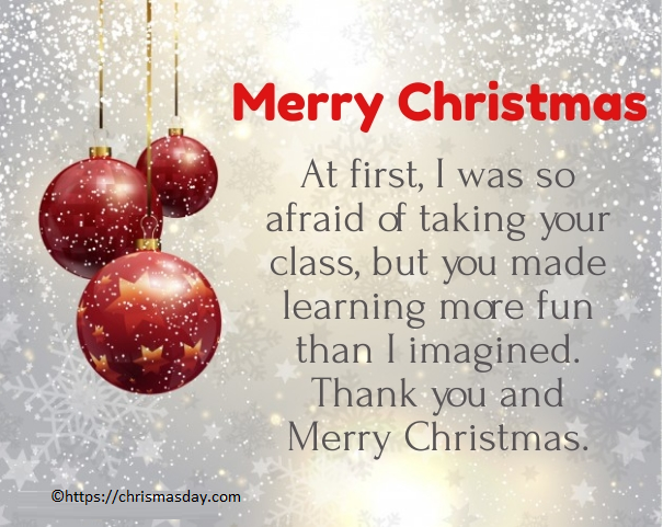 Christmas Messages Greetings For Teachers #MerryChristmas