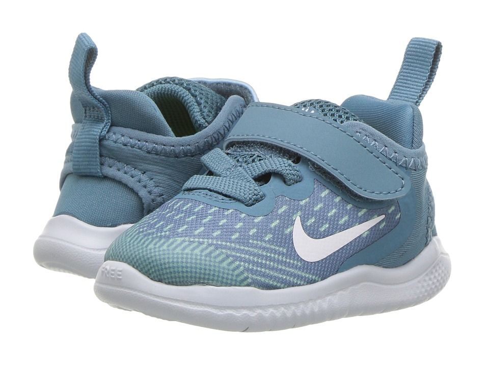 ae8d9111cc88 Nike Kids Free RN 2018 (Infant Toddler) (Noise Aqua White Igloo Pure  Platinum) Girls Shoes  new