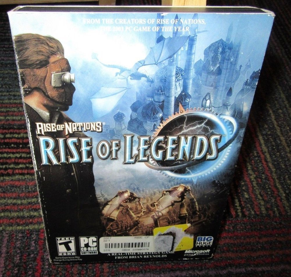 Rise Of Nations Rise Of Legends 4 Disc Pc Cd Rom Game Real Time