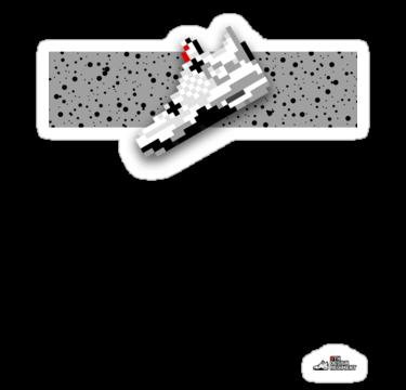 8-bit Air Jordan 4 T-shirt by 9thDesignRgmt