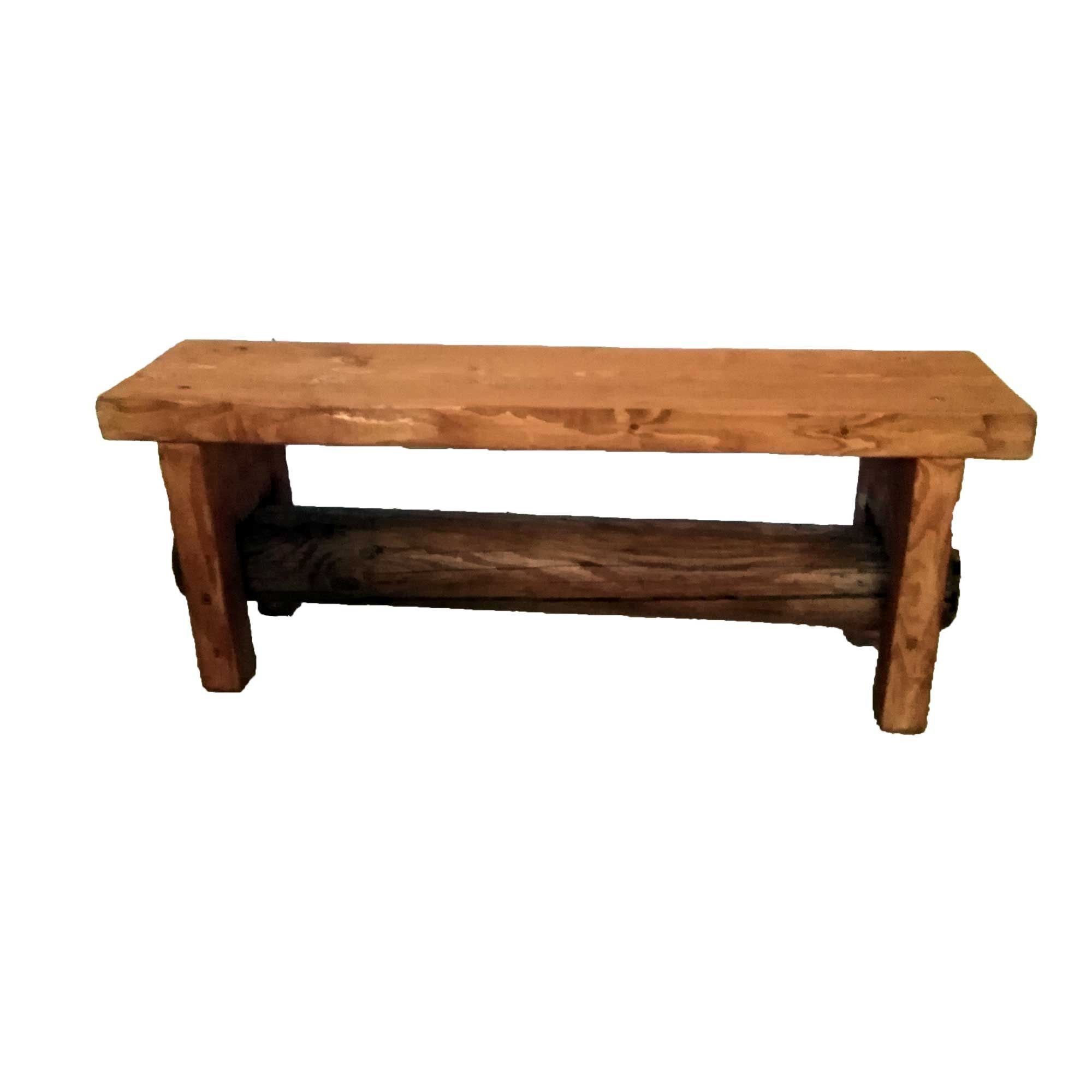 Holzbank Draußen Flower Bench Wooden Bench For Indoor & Outdoor Garden Bench Plank Winter Garden Bench Solid Wood Rustic Country House Style Vintage | Holzbank, Rustikale Landhäuser, Bank