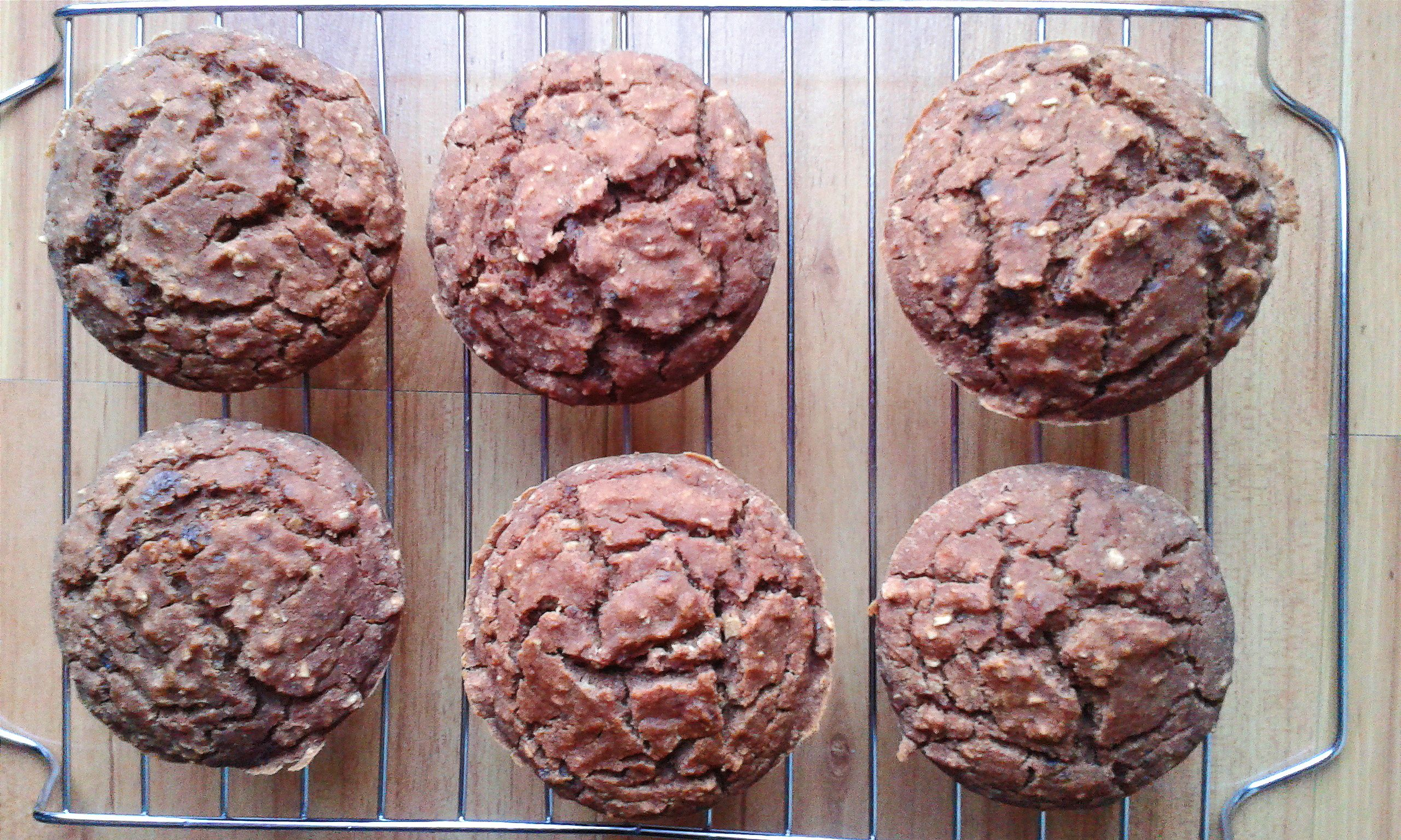 Muffins de Pera e Cacau