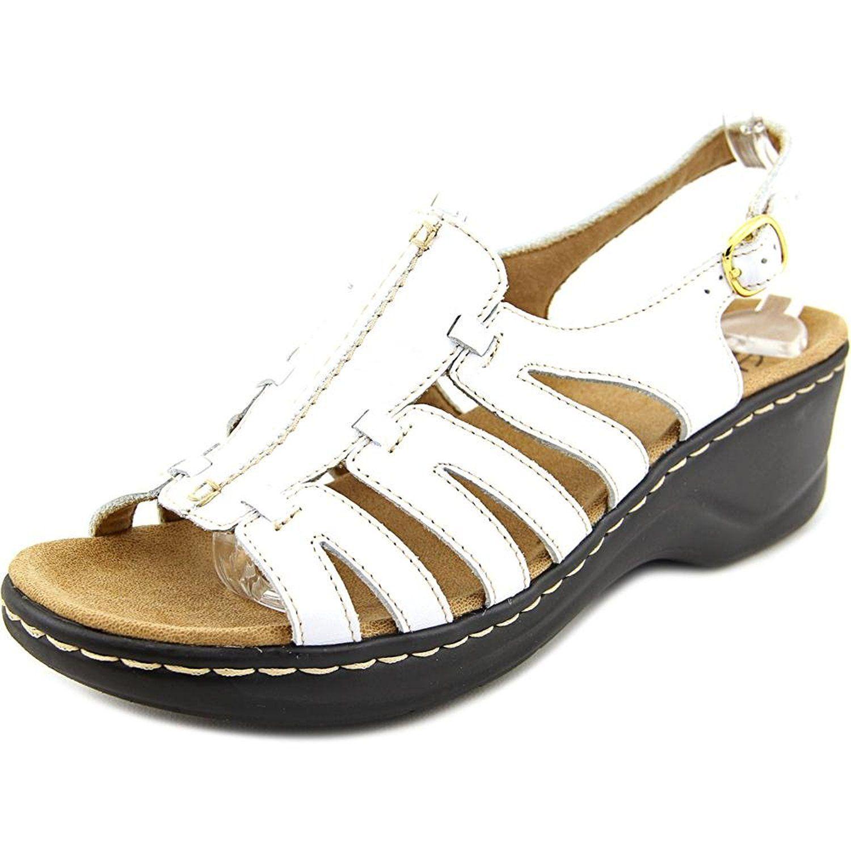 227a4c398cda12 Clarks Lexi Marigold Q Women N S Open-Toe Leather Slingback Sandal ...
