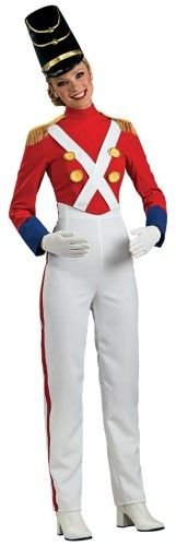 Deluxe Toy Soldier Costume Womens Small Redwhite Toy Soldier