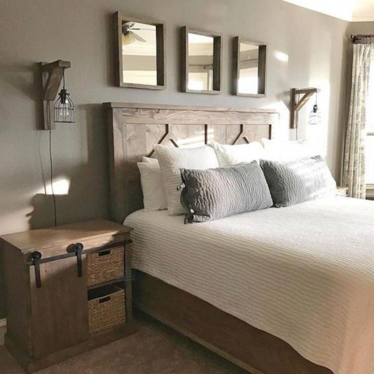 50 Cozy Farmhouse Master Bedroom Remodel Ideas: 35+ COZY MODERN FARMHOUSE BEDROOM DESIGN IDEAS