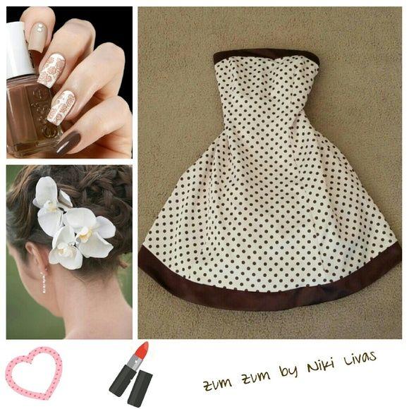 Zum Zum by Niki Livas Polka Dot Dress Pre-loved and in good condition! Zum Zum by Niki Livas Dresses