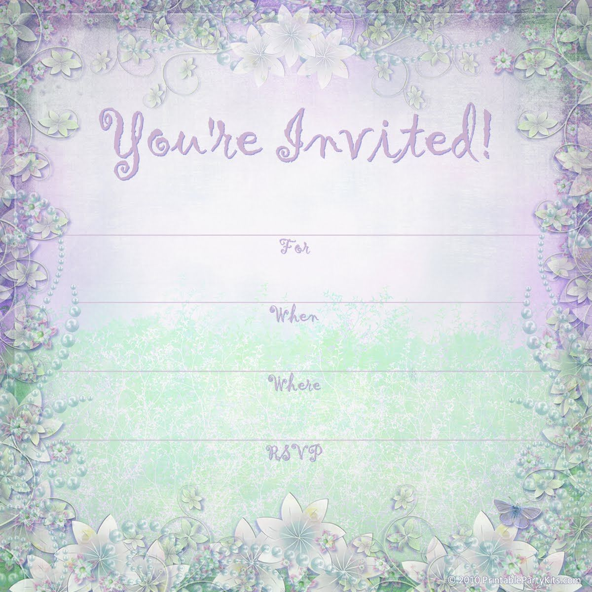 free summer party invite templates | Kndls birthday | Pinterest ...