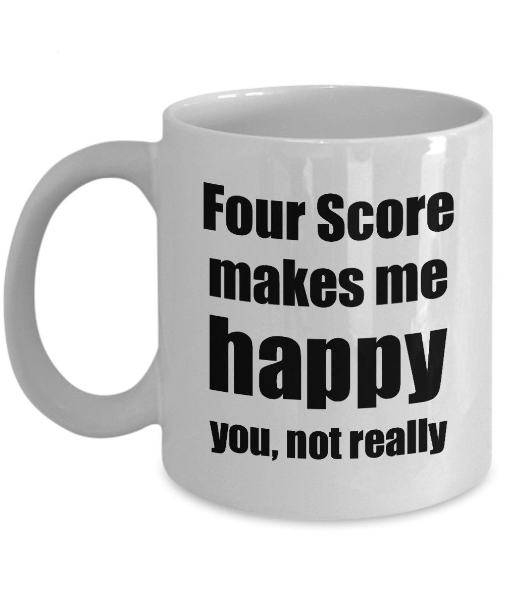 Score Cocktail Mug Lover Fan Funny Gift Idea For Friend Alcohol Mixed Drink Novelty Gag Coffee Tea CupFour Score Cocktail Mug Lover Fan Funny Gift Idea For Friend Alcohol...