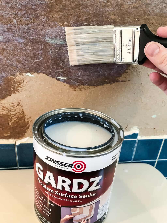 Repair Torn Drywall Paper with Zinsser Gardz Sealer Farm