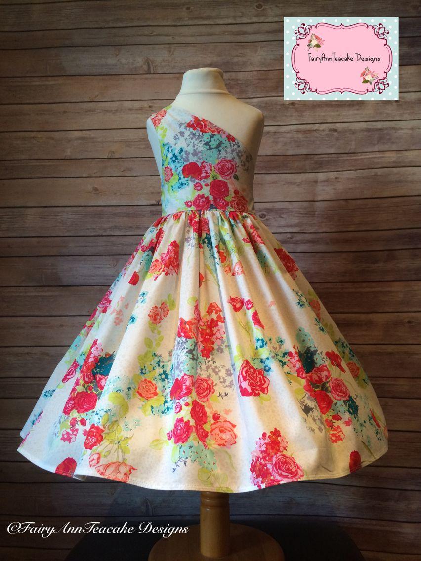 Handmade Girls Party Dress Paris Style With Art