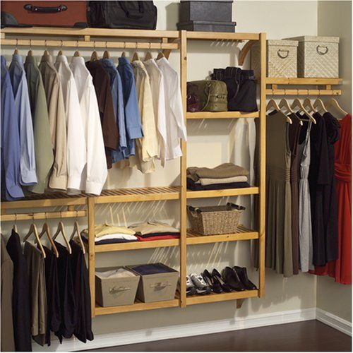 Wonderful John Louis Home JLH 522 Standard 12 Inch Depth Closet Shelving System, Honey