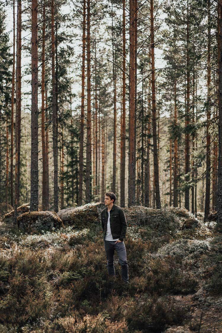 Men Forrest Trees Portrait Photoshoot Photography Nature Outdoor Sweden Travel Woods Photography Nature Photography Trees Nature Photoshoot