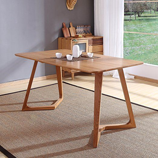 Esstisch Eiche Modern esstisch eiche 160 x 80 cm natur braun esszimmertisch echtholz tisch