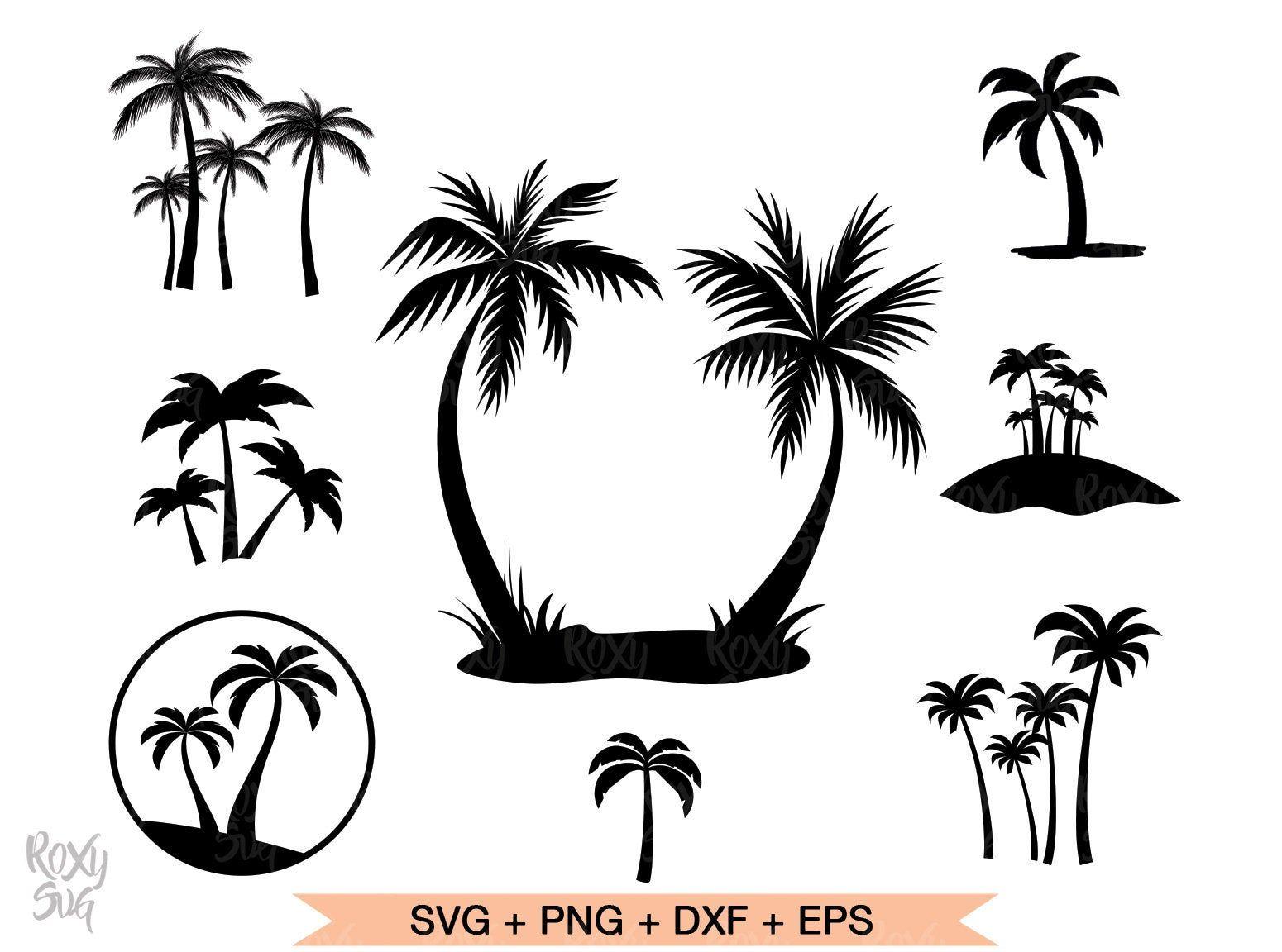 Palm Tree Svg Summer Svg Palm Tree Bundle Svg Palm Tree Clipart Palm Tree Silhouette Svg Files For Cricut Svg Eps Dxf Png Files Palm Tree Vector Palm Tree Drawing Palm
