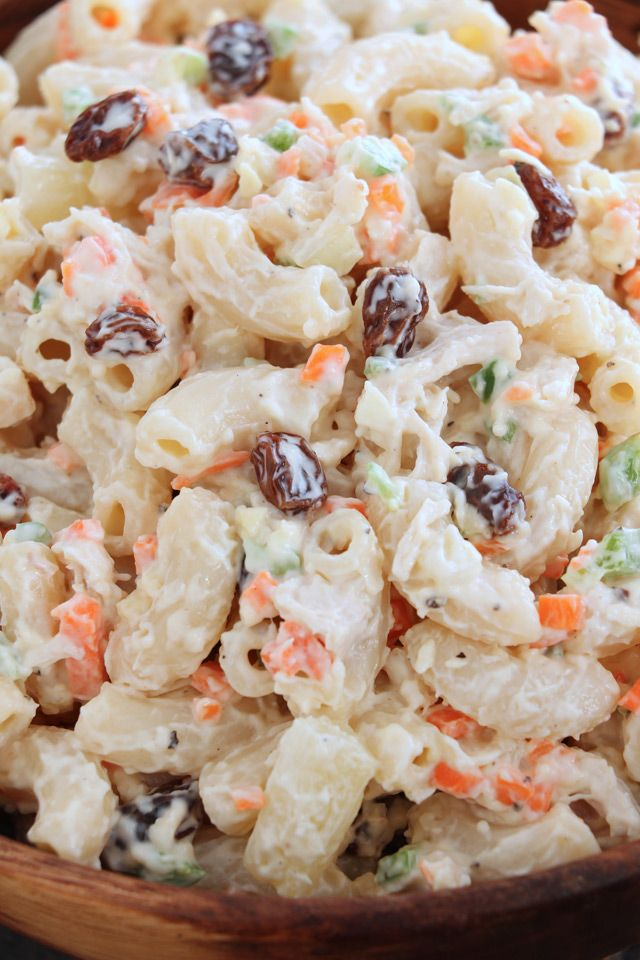 Easy Chicken Macaroni Salad Recipe Chicken Macaroni Salad Macaroni Salad Healthy Chicken Recipes Easy