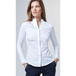 Photo of Satin-Bluse in Weiss windsor