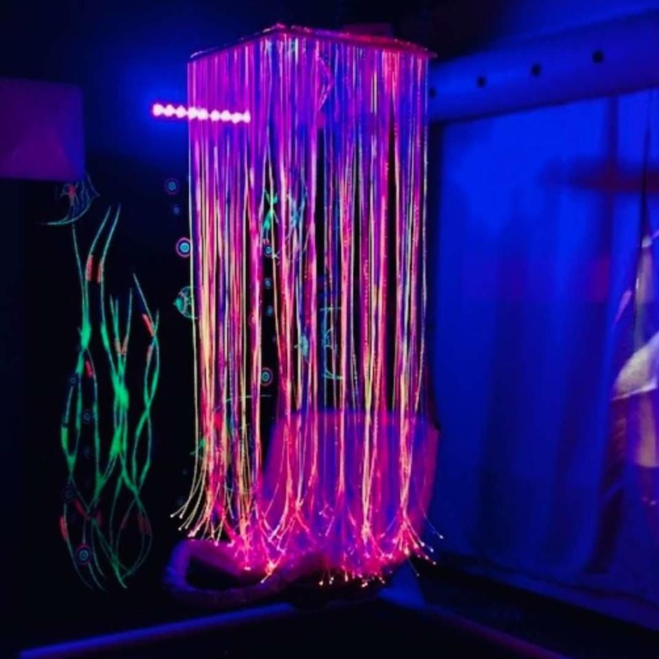 Fibre Optic Waterfall 24 Panel Ceiling Suspended Fiber Optic Ceiling Ceiling Installation Fibre Optics