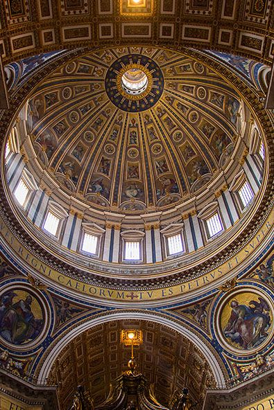 The Dome Of St Peter S Rises To A Total Height Of 136 57 Meters It Is The Tallest Dome In The World Vatican City Vatican Sistine Chapel
