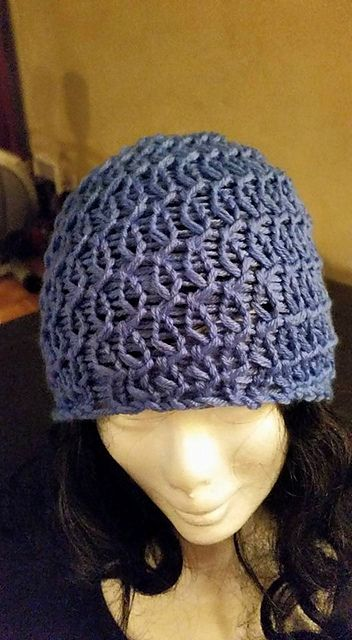 Self spiral loom knit hat made on the knifty knitter looms or any ...